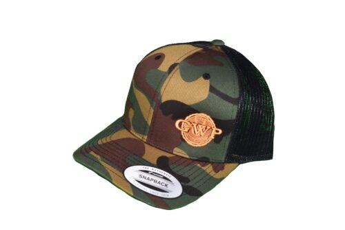 GWP Camo Hat with Orange Logo