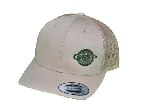 GWP White Hat with Green Logo